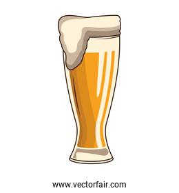 glass with beer icon, flat design
