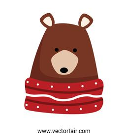 christmas grizzly bear icon