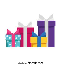 gift boxes icon, colorful design