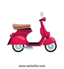 classic motorcycle icon, flat design