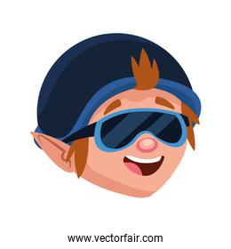 happy man with aviator hat and sunglasses