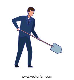 Businessman avatar vector design