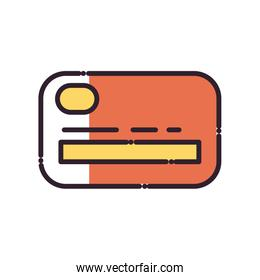 Isolated credit card fill style icon vector design