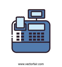 Isolated cash register fill style icon vector design