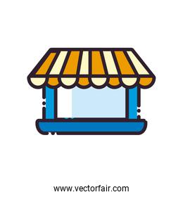 laptop with tent fill style icon vector design