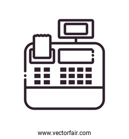 Isolated cash register line style icon vector design