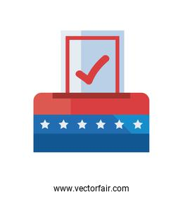 usa vote box fill style icon vector design