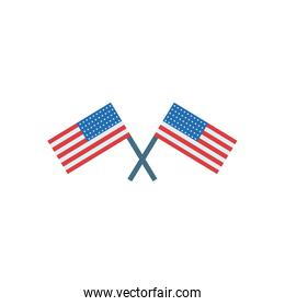 usa flags fill style icon vector design
