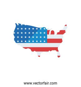 usa map fill style icon vector design
