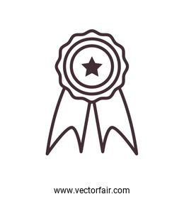 Isolated seal stamp line style icon vector design