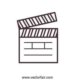 Isolated movie clapboard line style icon vector design