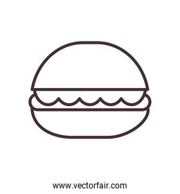 Isolated hamburger food line style icon vector design