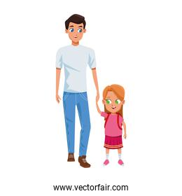 man with little girl icon
