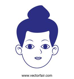 woman with cool hairstyle icon