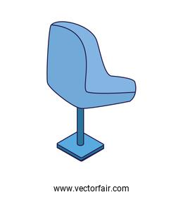 office chair icon, flat design