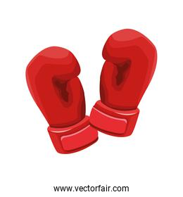 boxing gloves icon, flat design