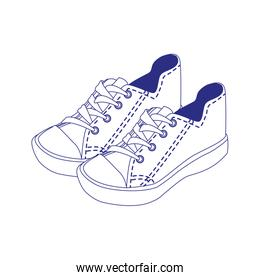 casual shoes icon, line style
