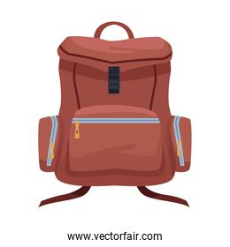 travel backpack icon, flat design
