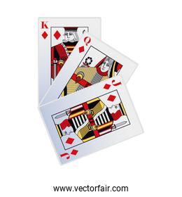 diamonds king, queen and jack cards