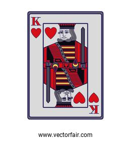 king of hearts card icon, flat design