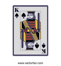 king of spades card icon, colorful design