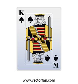 king of spades card design, colorful style
