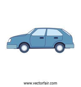 hatchback car icon, flat design
