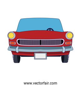 front view of classic car icon