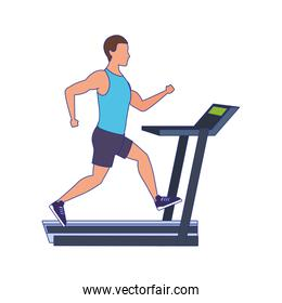 avatar man running on treadmill icon