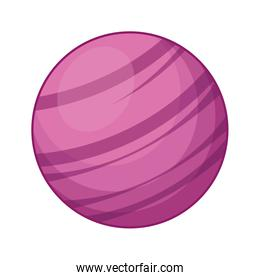 Pink space planet icon, colorful design