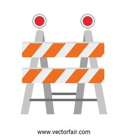 construction barrier icon, colorful design