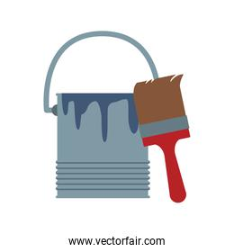 paint bucket and brush icon