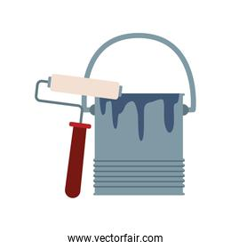 paint roller and bucket icon