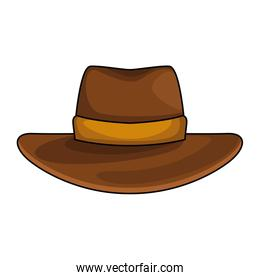 Western hat icon, colorful design