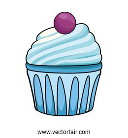 sweet cupcake icon, colorful design