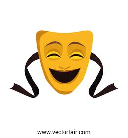 Comedy theater mask icon