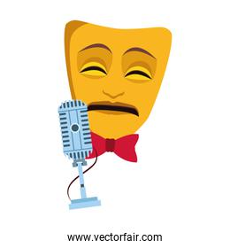 theater mask and microphone icon