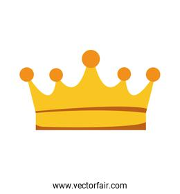 queen crown icon, colorful and flat design