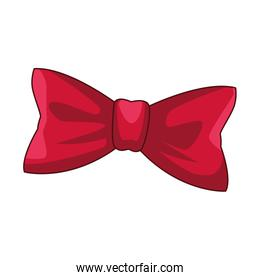 red bow tie icon, colorful design