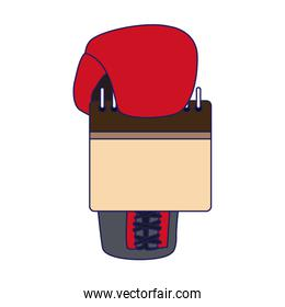 boxing glove with blank calendar