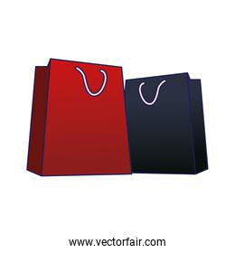 shopping bags icon, colorful design