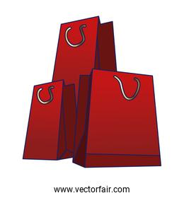 red shopping bags icon