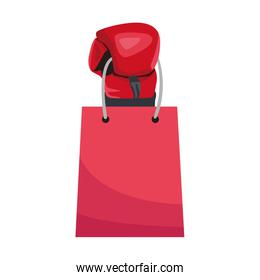 boxing glove with shopping bag icon