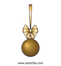 golden christmas ball icon