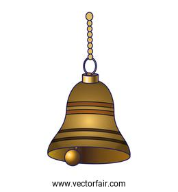golden bell hanging icon, colorful design