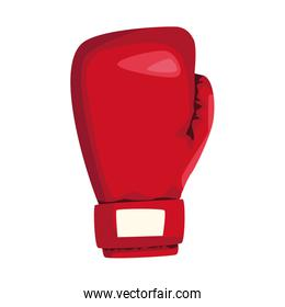 red boxing glove icon, colorful design