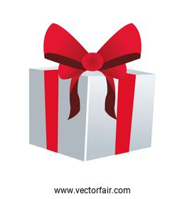 gift box with red box icon, colorful design