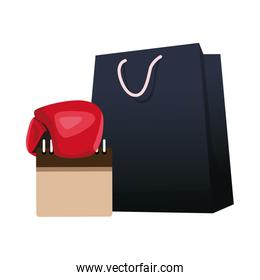 shopping bag and blank calendar icon