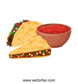 Isolated mexican food vector design