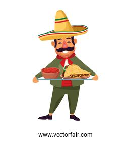 Isolated mexican man vector design